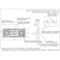Poziční lampa W17 č.101z
