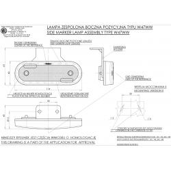 Poziční lampa W47WW č.534z