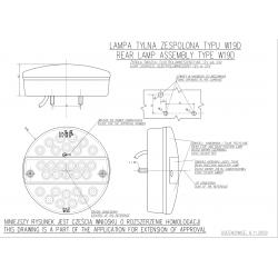 Koncová lampa W19 č.288