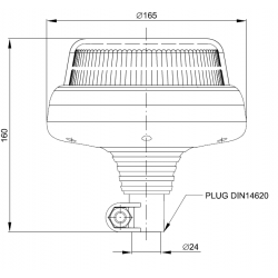 Maják LED profi FT-100 P