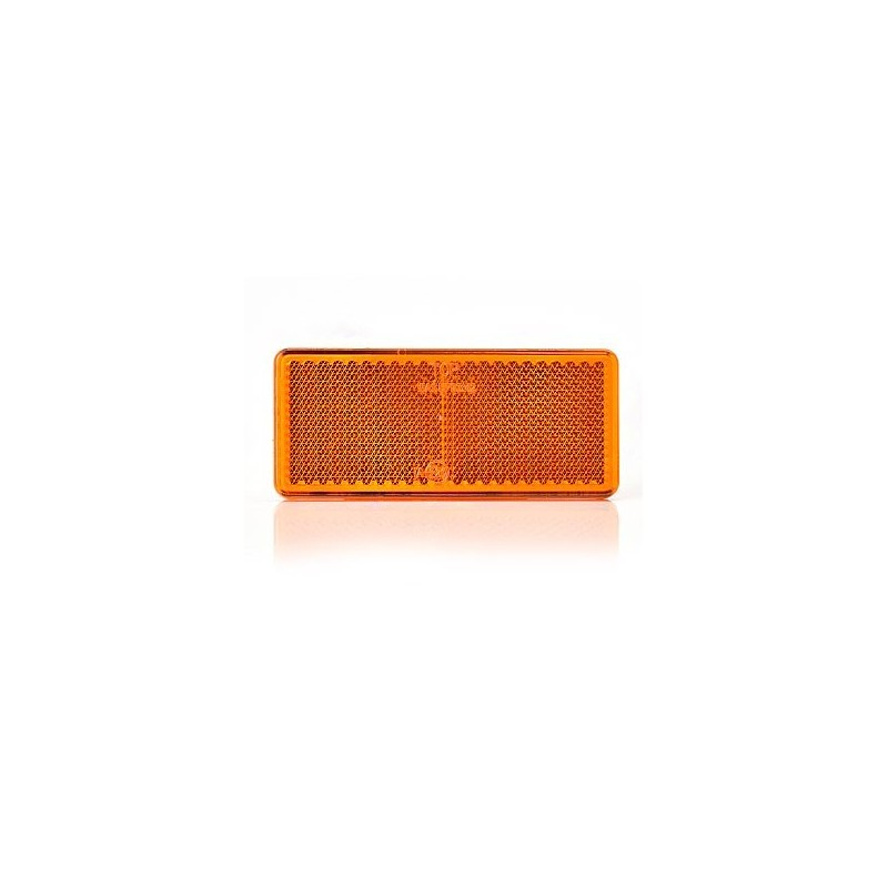 Odrazka samolepící oranžové obdélník 69x31