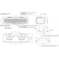 Koncové světlo mlhové/couvací  W101 č.750
