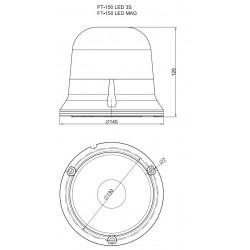 Maják LED profi FT-150 S3 pevný