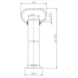 Podpěrná noha 70cm ST-01