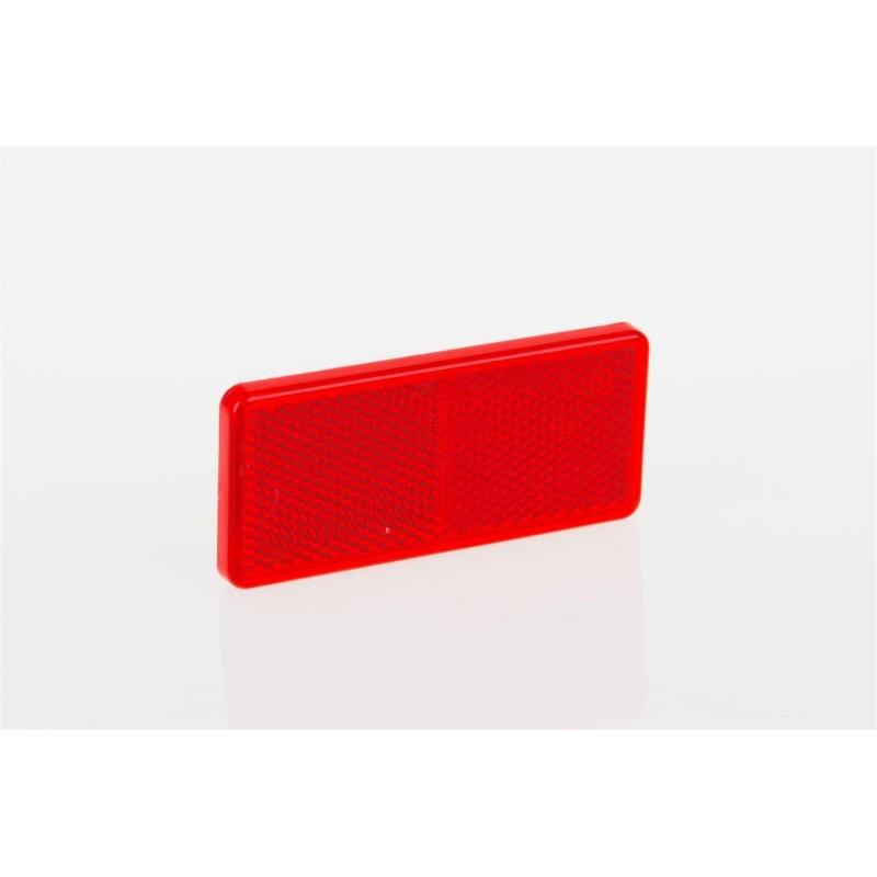 Odrazko samolepící obdélník 90x40 červené