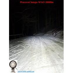 Test svítivosti 9 led pracovních lamp