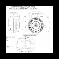 Maják LED profi W126 č.866.12D na tyč / 1 funkce