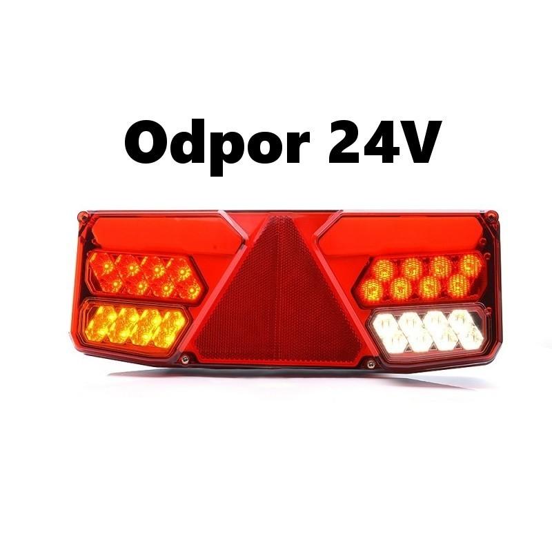 Koncová lampa W137P/1035o24 s odporem 24V