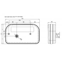 Koncové světlo LED FT-170P Couvací bajonet 5PIN