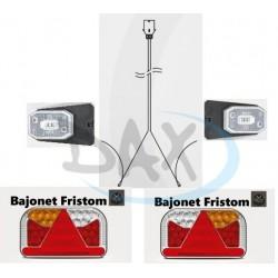 Elektrokabeláž 7pin 7m + FT-170 + FT-1 LED