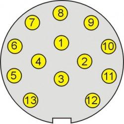 Zástrčka 13 polová PVC