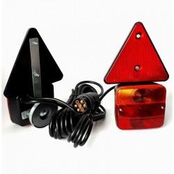 Koncová světla na magnet + 6,5m kabel