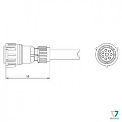 Konektor Schlemmer 8 pin rovný
