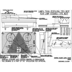 Koncová lampa W21L č.114