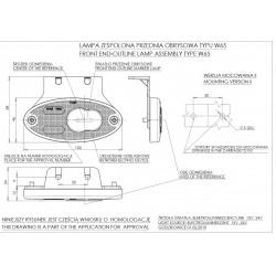 Poziční lampa W65 č.309z